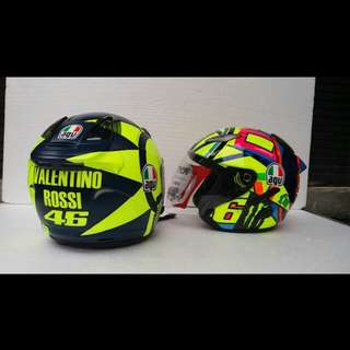 Valentino Rossi AGV Design MotoGP 2018 and 2017