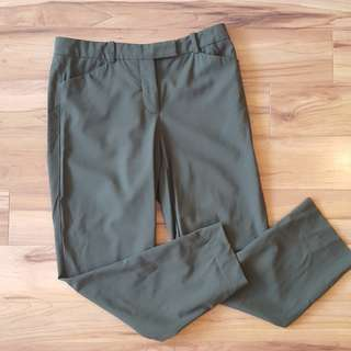Aritizia Army Green Cropped Pants