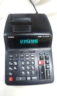 Casio DR-120TM-BK Calculator Printing