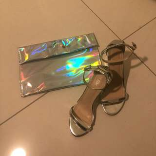Holographic Heels Free Clutch