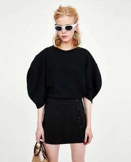 🚚 OshareGirl 05 西班牙單純色單排釦裝飾褲裙休閒短褲