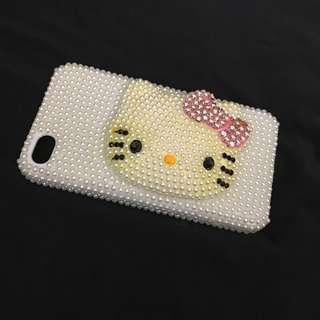 🈹️手機売hello kitty 珍珠閃款,iPhone 4,4S 用 saniro