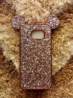S6 edge glitter mouse ears case