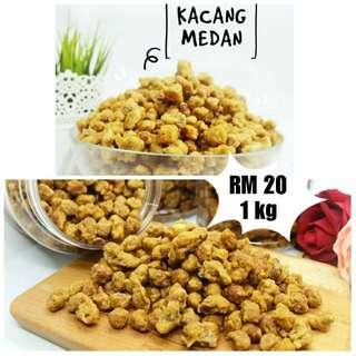 Kacang Medan (Goreng Tepung) 1kg - Jajan Kerepek Keropok Kuih Raya