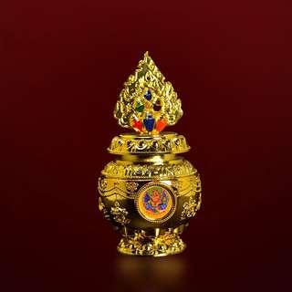 色登寺 - 黃財神寶瓶 增財運權勢