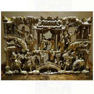 中國四大木雕之一: 潮州金漆通雕