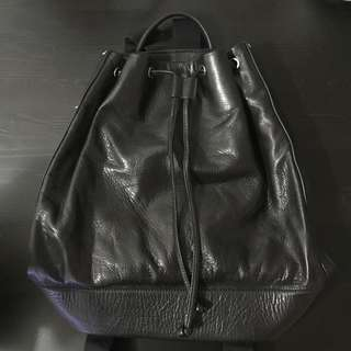Rabeanco black leather backpack