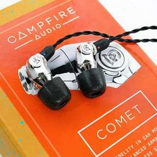 【全新行貨】原價$1580 ** 10% Off ** Campfire Comet 美國制 人門級靚耳機.   (100% New)