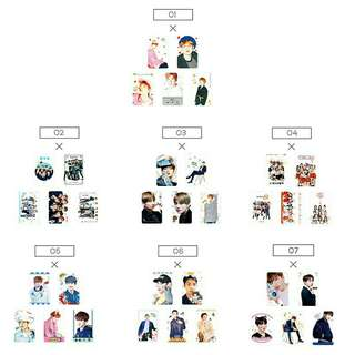 5pcs Kpop Transparent Hand Card