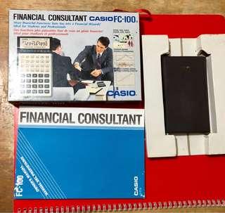 Casio 商用計算機附盒及說明書
