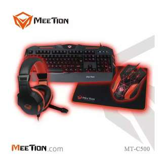 Meetion MT-C500 Backlit Gaming Kits 4 IN 1