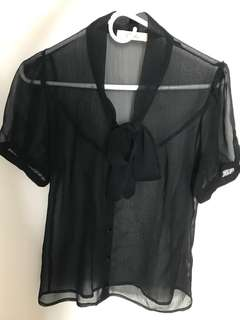 Japanese brand* Black Tie Shirt