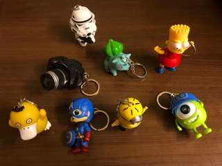 Animated Character Keychains