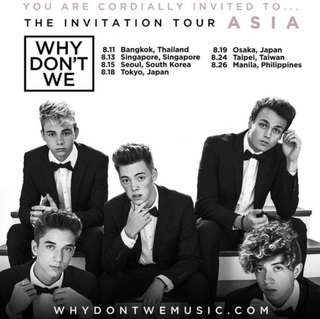 WHY DONT WE CONCERT TICKETS PLEASE
