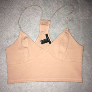 Light Pink Strappy Crop Top