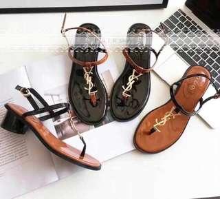 🚚 🌈新款上架⭐️歐美YSL字樣一字涼鞋
