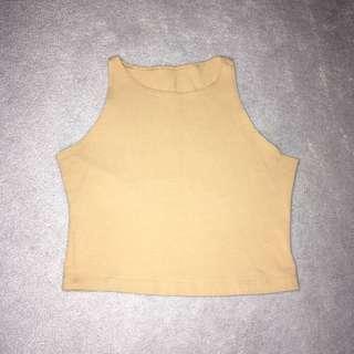 American Apparel Nude Cotton Spandex Crop Top