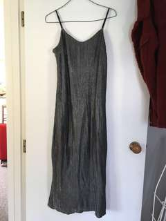 Silver basic ball dress