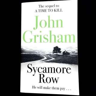 Sycamore Row By John Grisham (legal thriller book)