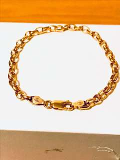 Lovely 9ct (375) Yellow Solid Gold Belcher Bracelet 20cm Length Stamped 375 CMA AUS