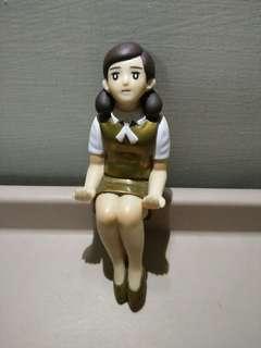 日本 金色泡麵杯緣子 公仔 模型 杯緣子 盒玩