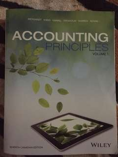 Accounting Principles- Volume 1. 7th edition