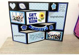 Large 3D Standing Get Well Soon Card