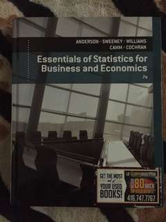 Essentials of Statistics for business and economic: 7th edition