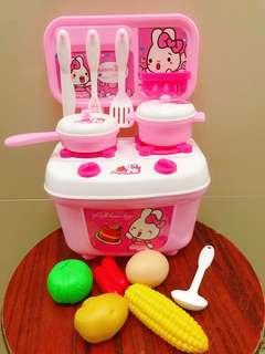 廚房玩具set 粉紅兔仔
