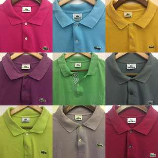 Lacoste Polo Shirts (BUNDLES available)