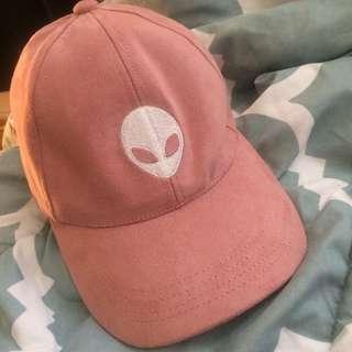 Pink Velvet Alien Hat