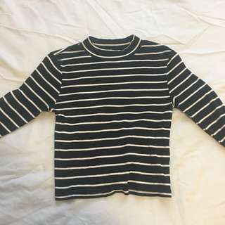 Black & white stripe long sleeve