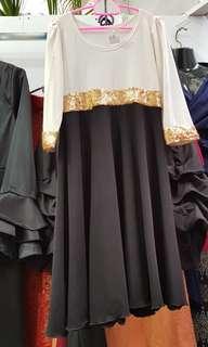 Sequin dress jubah kid