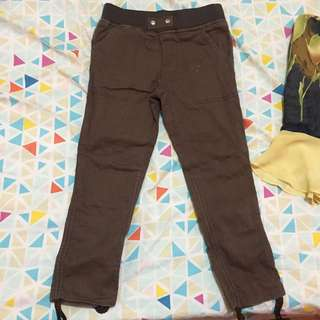 small brown skinny pants