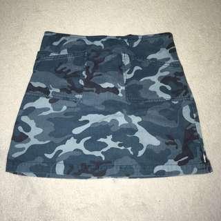 Blue Camo Skirt