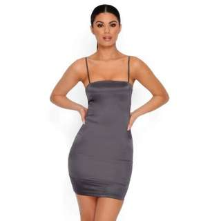 Oh Polly Charocal Taut and Bothered Dress