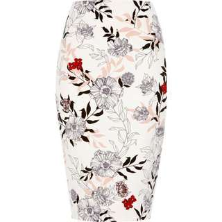 River Island floral pencil skirt