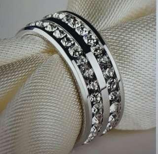 Diamonique wedding ring 8