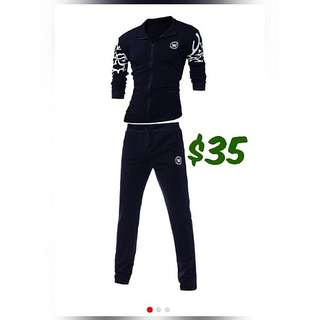 Mens track suit with design