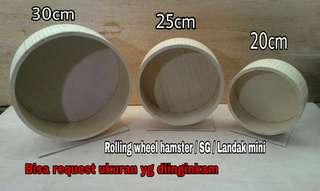 contoh ukuran rolling wheel hamster / landak mini