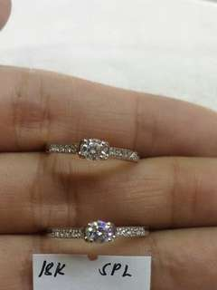18K Saudi White Gold ring per piece