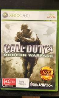 Xbox 360 Call Of Duty 4 - Modern Warfare (able to play on Xbox One)