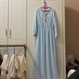Zalia Baby Blue Long Dress