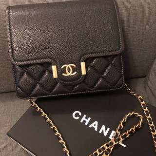 Chanel Clutch With Chain 2018 black
