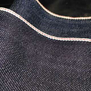 Bahan denim selvedge red line