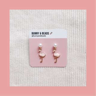 Pink Flamingos Earrings