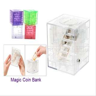 Magic coin bank