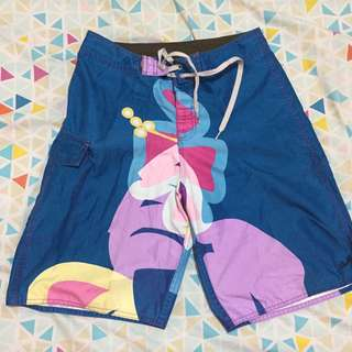 floral blue and pink board shorts / swim wear
