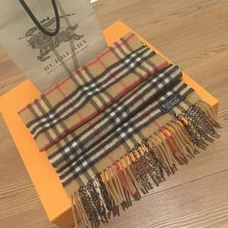 Authentic Vintage Burberry Cashmere Scarf