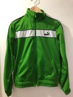 PUMA green track jacket WOMENS